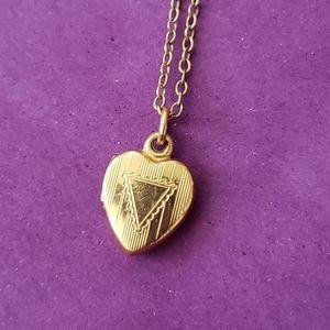 12K Gold Locket Necklace